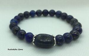 LAPIS-LAZULI-Power-Beads-Bracelet-Crystal-Gem-mala-healing-3Eye-chakra-Jewellery