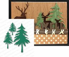 Evergreen Tree die - Fir Trees - IMPRESSION OBSESSION DIES - DIE084-V Winter