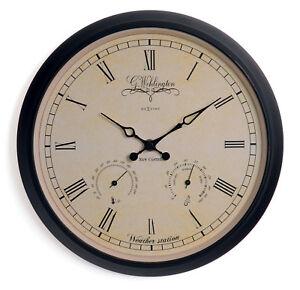 Nextime-Orologio-Parete-Wehlington-Weather-25cm-Termometro-Igrometro-Quarzo
