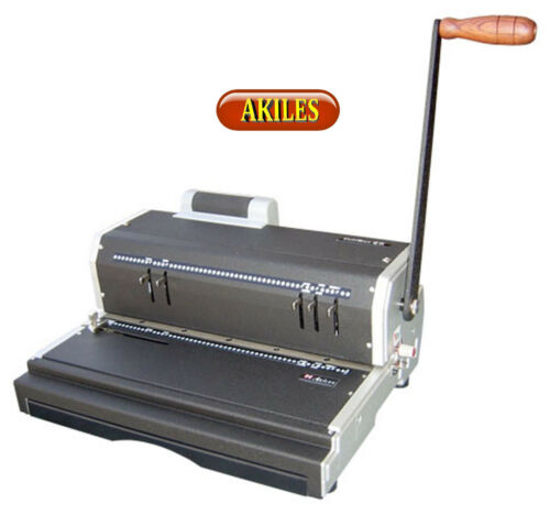 Akiles Coilmac-ER Coil Binding Machine & Punch with Electric Inserter ( New )