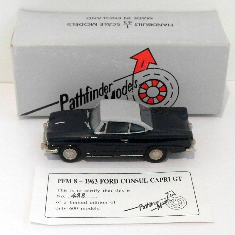 Pathfinder Models  Scale PFM8 - 1963 Ford Consul Capri 1 Of 600 BlueGrey