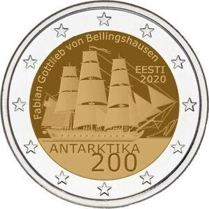 2 euros Estonie 2020  ANTARCTIQUE  NOUVEAU PROMO AOUT