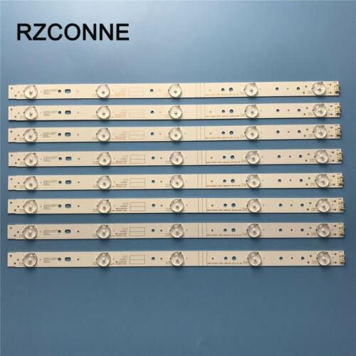 8pcs LED strip For 43E3000 43E6000 E465853 5800-W43001-3P00 VER01.00 02K03177A