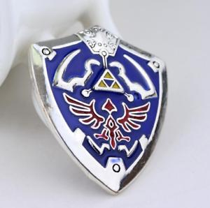 The Legend of Zelda Hylian Shield Brooch Alloy Lapel Button Pin Badge Ornament