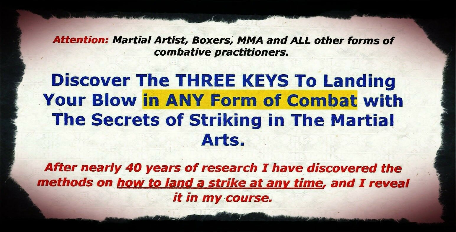 Learn the methods methods methods on how to land a strike at any time- Kempo Karate Jiu-jitsu 8eecca