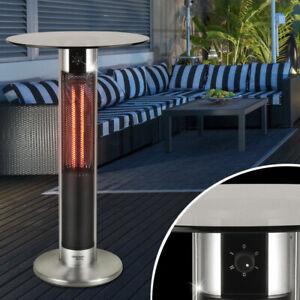 Details zu Bistro Garten Glas Tisch 2 Stufen Infrarot Schalter Heizung 1600W Big Light