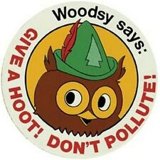 """Give A Hoot- Don't Pollute""  70's style Travel Sticker"