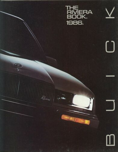 NOS 1986 Buick Riviera T Type and Coupe Mint! 24 Page Deluxe Sales Brochure
