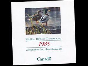 1985-4-Dollar-Canada-Wildlife-Habitat-Stamp-in-Folding-Card-95-mm-X-100-mm