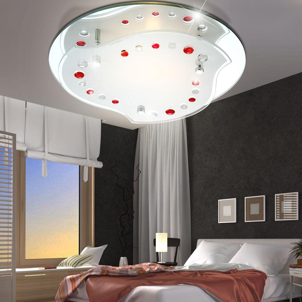 7W LED ceiling light lighting living room decor rot clear chrome lamp NEW