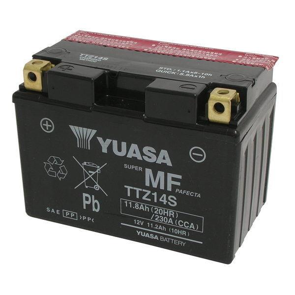 Batería Yuasa TTZ14S = YTZ14S 12V 11Ah Honda NT V Deauville ABS 700 2006 2007
