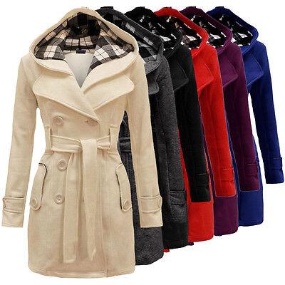 2016 Fashion Womens Warm Winter Hooded Long Section Jacket Outwear Coat S#