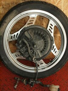 Hinterrad-komplett-Felge-Bremse-Bremspumpe-rear-wheel-brake-Honda-CBX-550-F