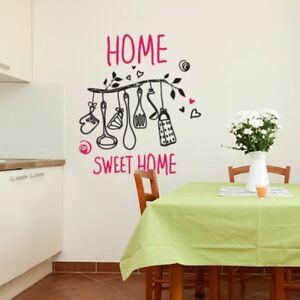 WALL STICKERS ADESIVO MURALE AFORISMI HOME CASA ARREDO HEART LOVE ...