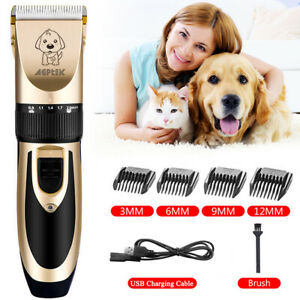 Animal-Pet-Dog-Hair-Clipper-Electric-Trimmer-Shaver-Grooming-Cutter-Rechargeable