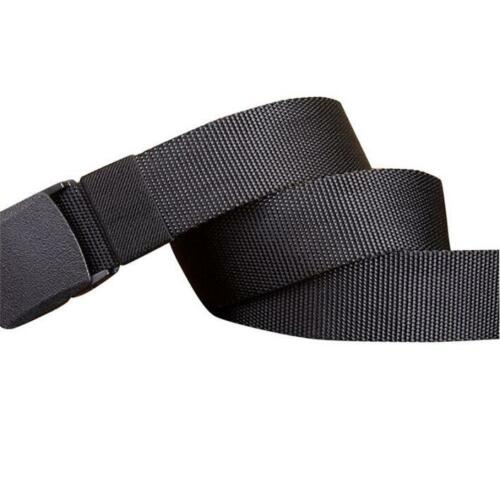 Men/'s Outdoor Sports Military Tactical Nylon Waistband Canvas Web Belt Dazzling
