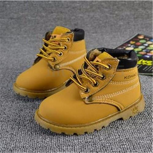 New Baby Kids Children Boys Girls Winter Warm Ankle Snow Boots Fur Casual Shoes