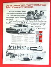Vintage /& Rare 1966 Castrol Shelby American Cobra Ad Better Than Original Print