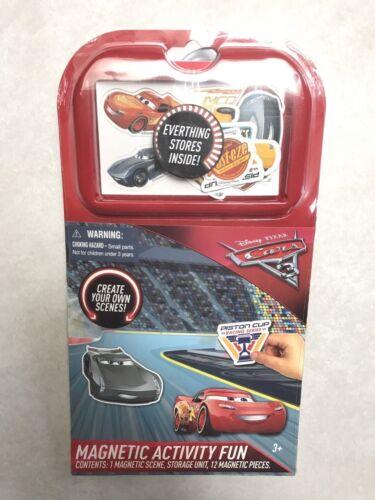 Disney CARS 3 MAGNETIC FUN Travel Activity Play Set Toy Jackson Storm New