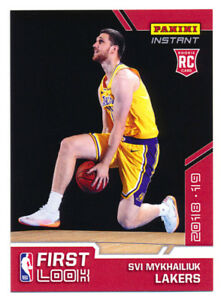 2511e1e49f1 2018-19 PANINI INSTANT SVI MYKHAILIUK RC LAKERS FIRST NBA ROOKIE ...