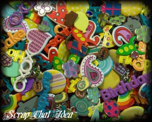 BRADS - Mixed BULK.  50Pcs. Craft / SCRAPBOOKING Embellishments. HUGE Variety!