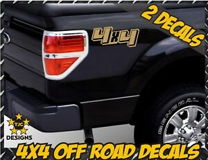 for Ford F-150 and Super Duty Gold Set 4x4 Truck Bed Decals