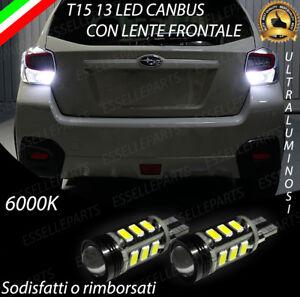 COPPIA-LAMPADE-RETROMARCIA-13-LED-T15-W16W-CANBUS-SUBARU-IMPREZA-4-IV
