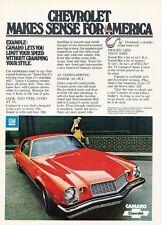 1974 Chevrolet Camaro LT Coupe Original Advertisement Print Car Ad J529