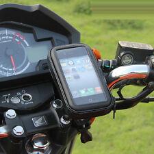 Black Bike Bicycle Motorcycle Phone Case Bag Handlebar Mount Holder Waterproof