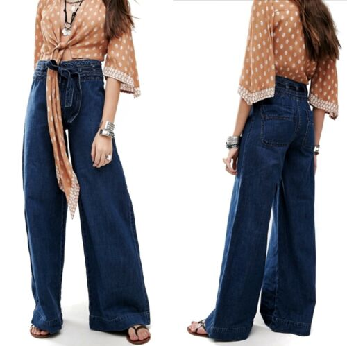Free People Augusta Belted Flare Jeans Womens 27 B