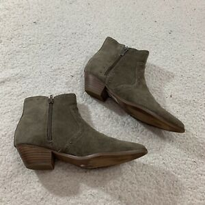 Women's Size 8.5, Taupe Suede Point Toe