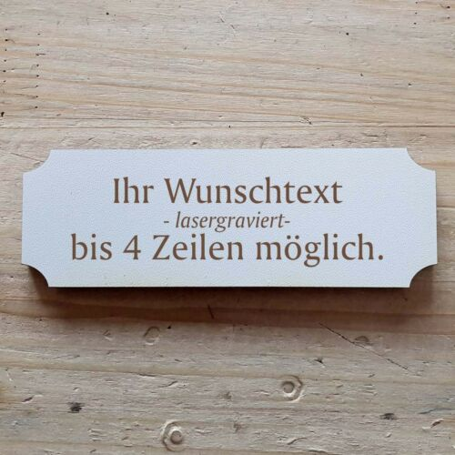 """Door Sign Plaque /""""with personal request text/"""" Laser Engraving"""