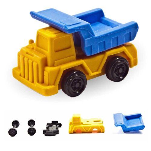 Iwako Puzzle Radiergummi zum Sammeln Lastwagen Transporter orange blau