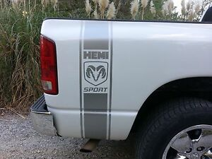 Dodge Ram Bed Vinyl Side Stripes Decal Mopar Srt 5 7