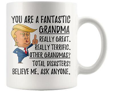 Funny Grandma Coffee Mug Christmas Gift Trump Gift Grandmother Birthday Gifts Ebay