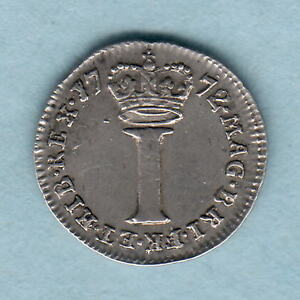 Great-Britain-1772-George-111-Silver-Penny-gVF