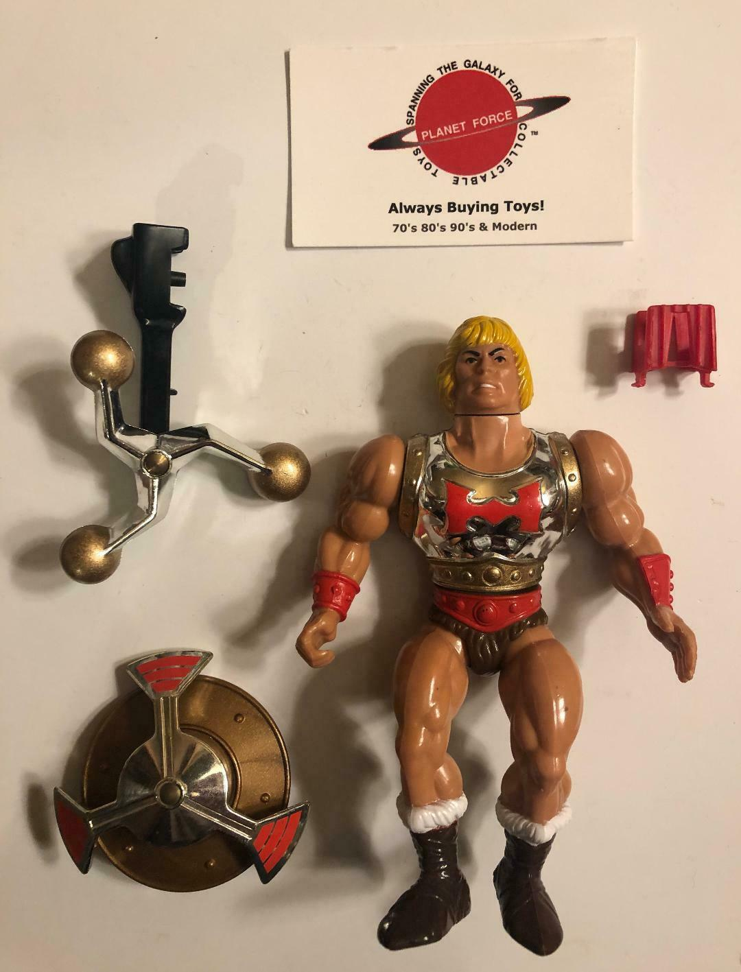 1986 Fliegening Fists He-Man Complete Vintage MOTU Figure