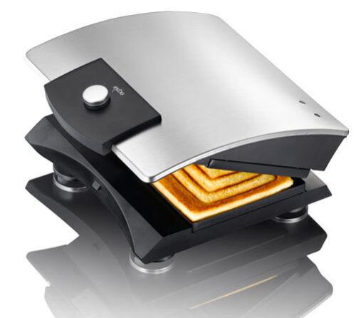 Design Sandwichtoaster Exido 12240004 Toaster Sandwich-Maker 750 Watt silber