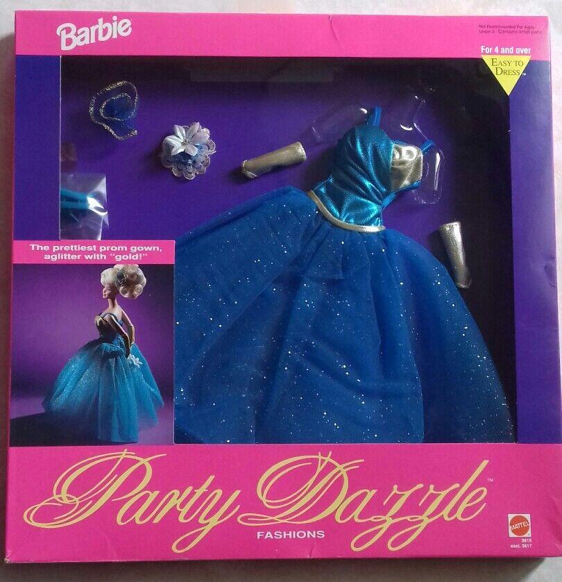 Raro e stupendo abito Party Dazzle Barbie anni 80 90 nuovo e perfetto.