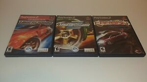 3-Game-Lot-Need-for-Speed-Underground-1-2-Carbon-CIB-PlayStation-2-PS2