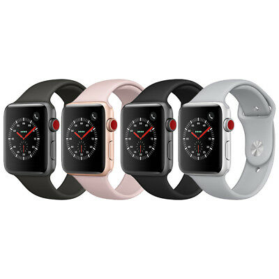 Apple Watch Series 3 GPS + Cellular Aluminum 42mm Case with Sport Loop or  Band | eBay