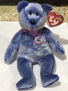 0c14691f71f Image is loading Ty-Beanie-Baby-Periwinkle-The-Bear