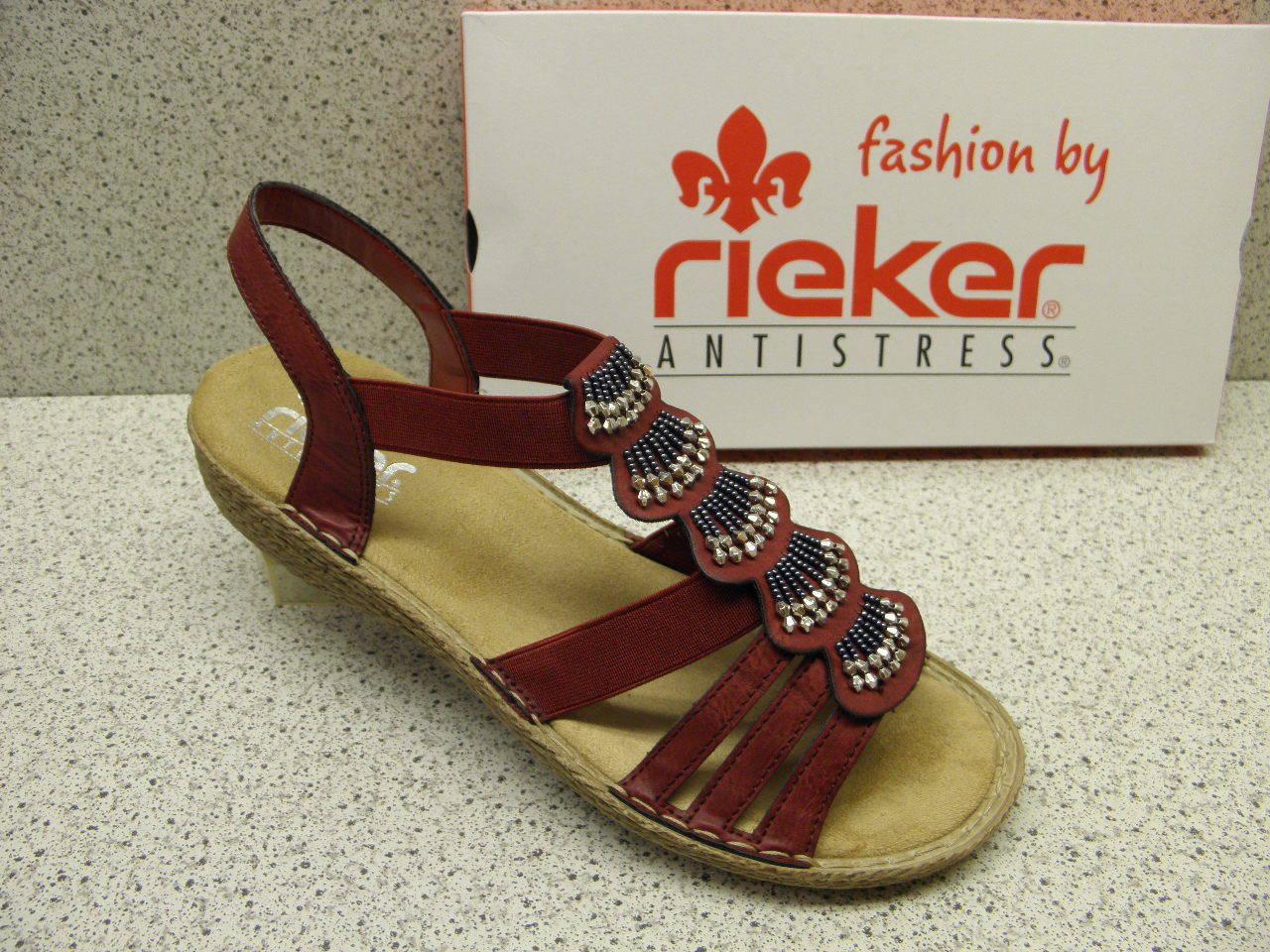 Rieker ® rotuziert Top Preis Fashion Mode rot  (R506)
