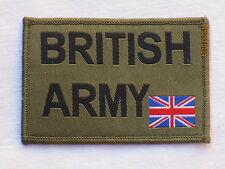 BRITISH ARMY & Union Jack 50x72mm, oliv,Armabzeichen,Patch,MTP, ohne KLETT