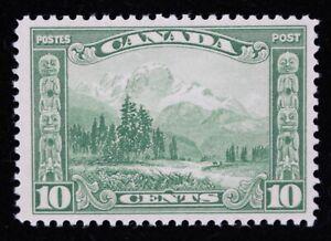 CANADA SCROLL ISSUE MOUNT HURD B.C. - 10 CENT - GREEN - UN#155 - VF LIGHT HINGED