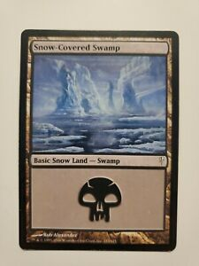 Mtg Magic Snow Covered Swamp Coldsnap Mp Ebay