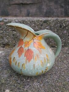 Samara-England-Pitcher-Vintage-Brentleigh-Ware-hand-painted-Fall-leaves