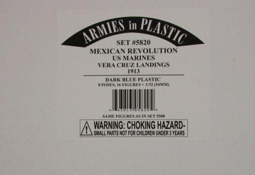 ARMIES IN PLASTIC 5820-révolution mexicaine-US Marines 1913 1:32