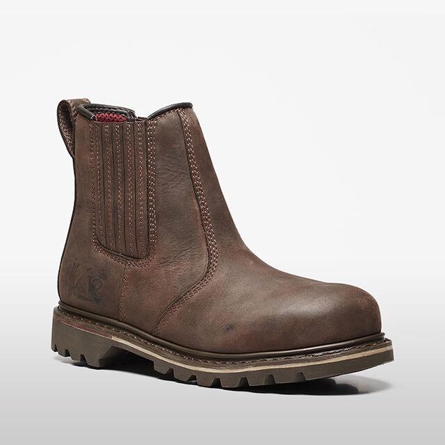 V12 Safety V1231 RAWHIDE Mens Work Dealer Boots Brown Leather Steel Toe Cap UK