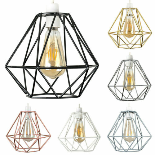 Industrial Retro Pendant Light Shade Wire Frame Ceiling Lightshade Lampshade NEW